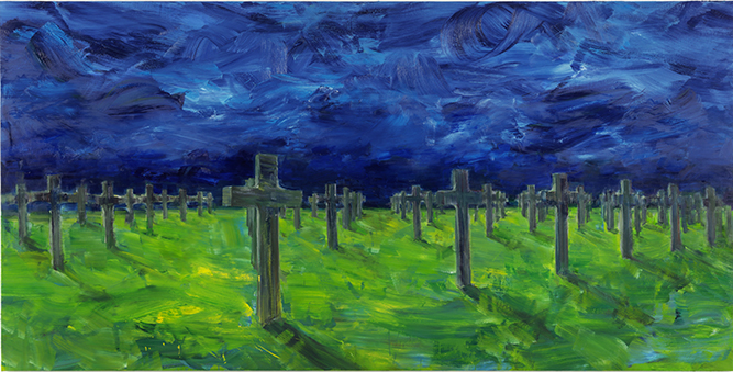 "Yan Pei-Ming, ""Chemin de croix"""