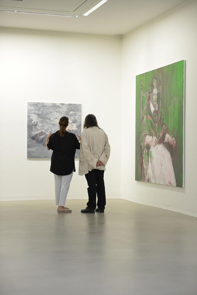 Maja Hoffmann et Yan Pei-Ming