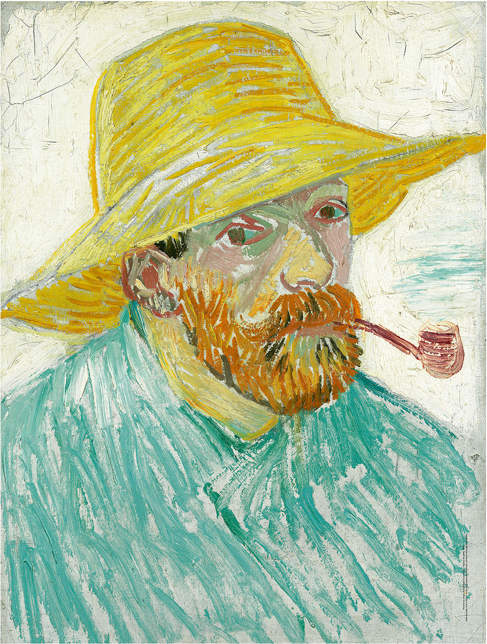 bottes timberland fille - Vincent Van Gogh: Self-portrait with Pipe and Straw Hat ...