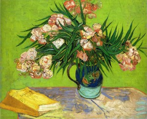 still-life-vase-with-oleanders-and-books