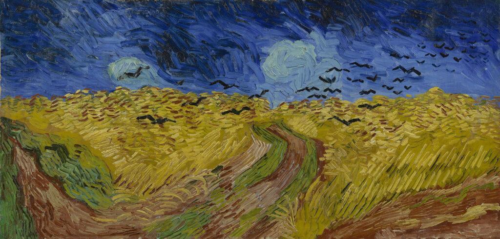Champ de blé aux corbeaux, 1890