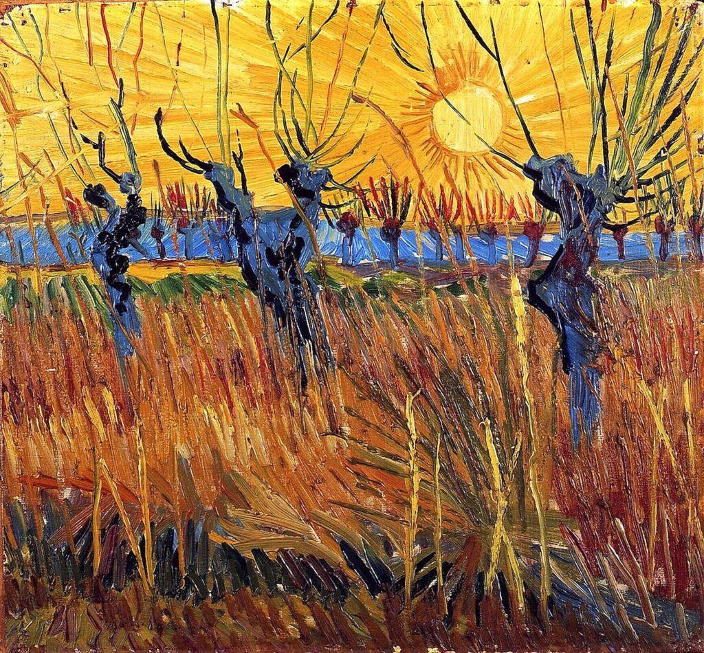 Saules têtards au coucher de soleil, 1888