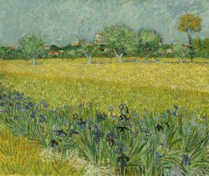 Vued'Arles avec des iris au premier plan, 1888
