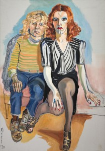 "Alice Neel, ""Jackie Curtis and Ritta Redd"", 1970. Oil on canvas, 152,40 x 106,40 cm. Cleveland Museum of Art"